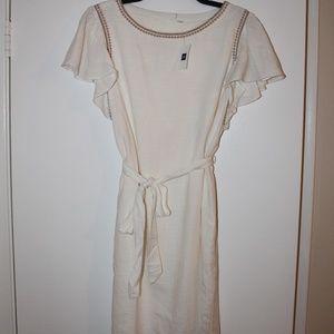 Gap Embroidered Flutter Sleeve Dress